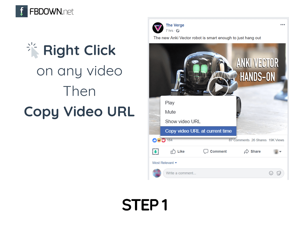 How to Download Facebook Videos - FBDOWN