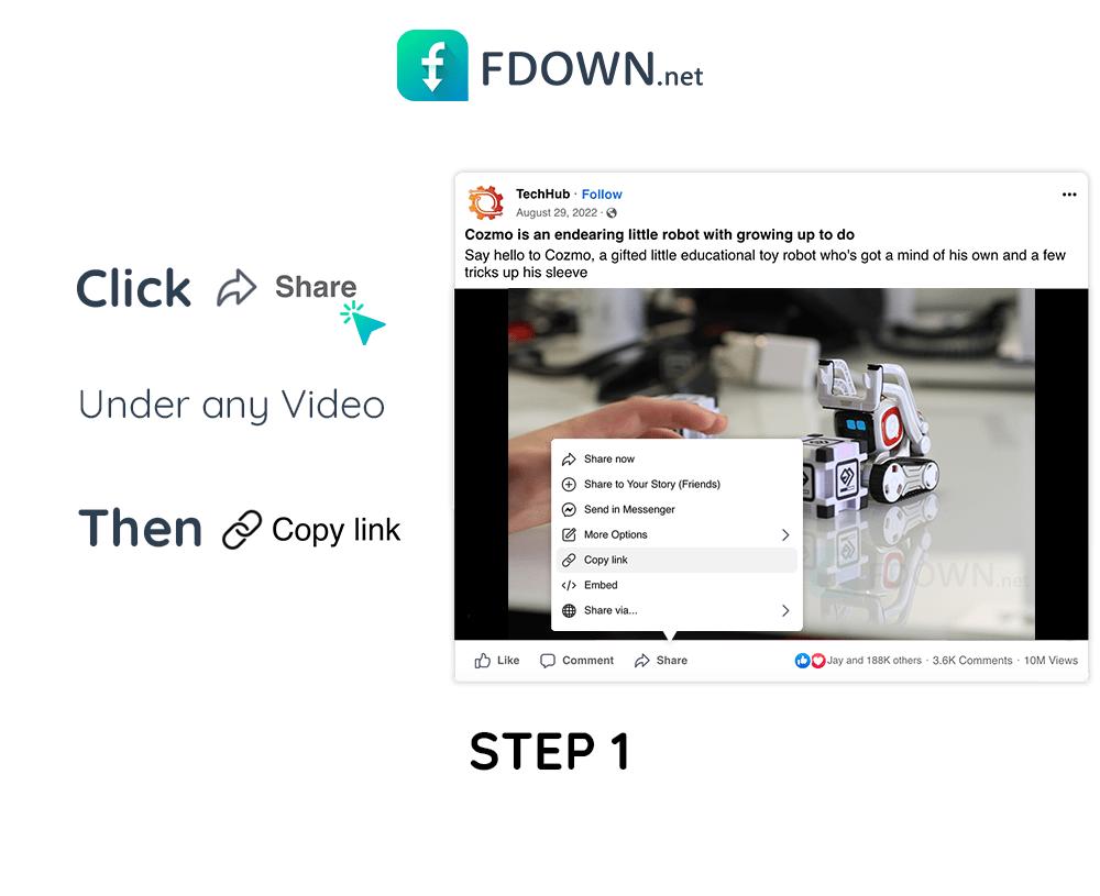 Wie kann man Facebook Videos herunterladen? - FBDOWN