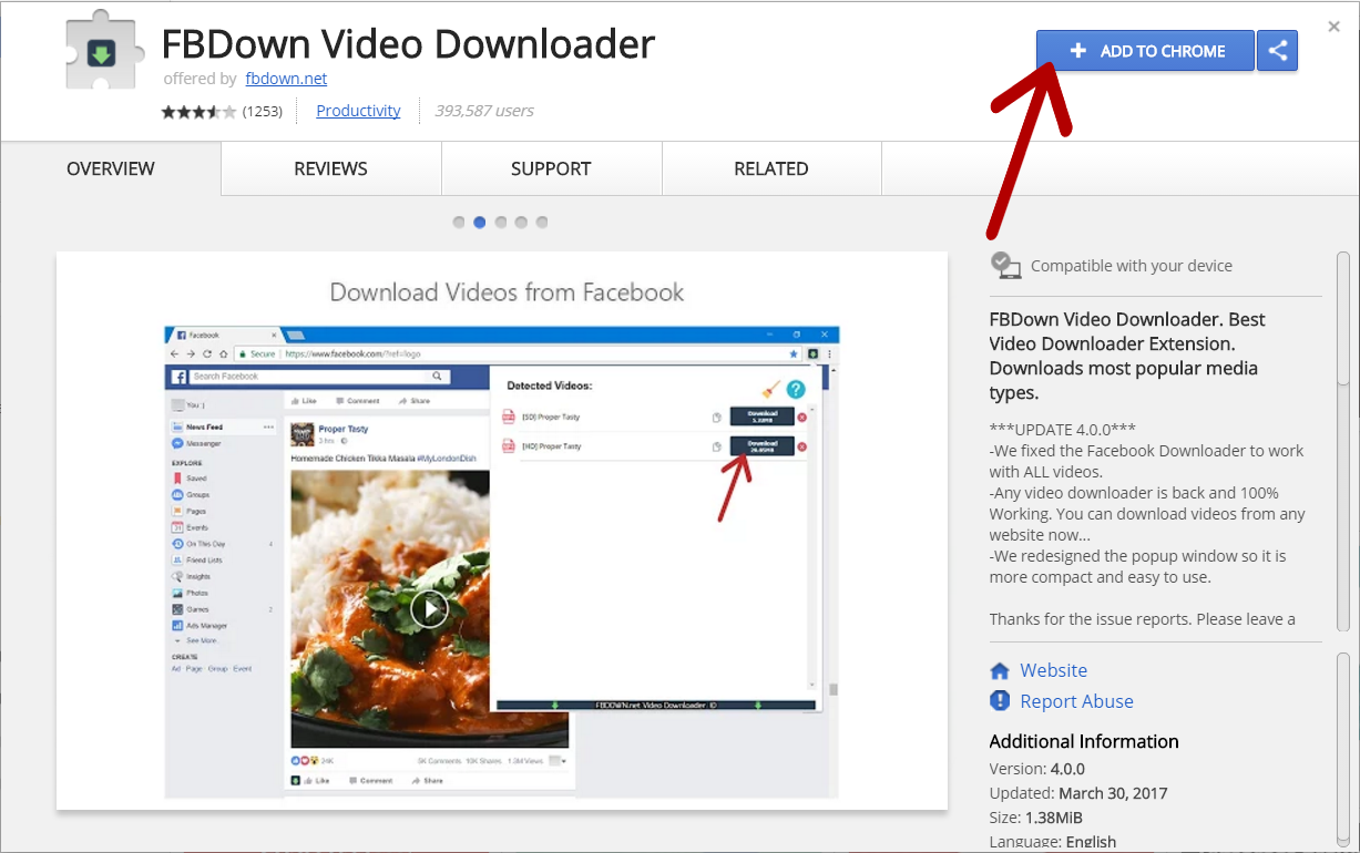 Youtube video downloader for chrome addon.